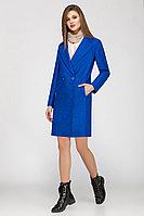 Женское осеннее синее пальто LaKona 1070 василек 42р.