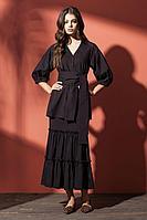 Женская осенняя черная блуза Nova Line 3509 черный 42р.