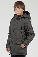 Детская для мальчиков осенняя серая куртка Lona 7330И графит 134-68р.