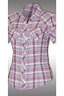 Женская летняя хлопковая блуза Таир-Гранд 6292-2 сиренев_клетка 46р.