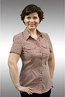 Женская летняя хлопковая бежевая большого размера блуза Таир-Гранд 6299-2 беж 48р.