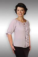 Женская летняя из вискозы серая блуза Таир-Гранд 62214 серый 50р.