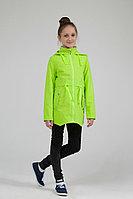 Детский для девочек осенний зеленый плащ Lona 6310И салат 134-64р.