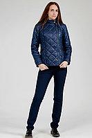 Детская для девочек осенняя синяя куртка Lona 7507И синий 164-88р.