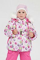 Детская для девочек осенняя розовая куртка Lona 8103И розовый 80-48р.