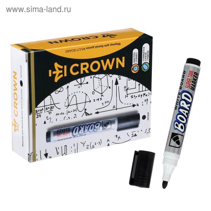 Маркер для доски 3.0 мм Crown Multi Board CBM-1000 черный - фото 1