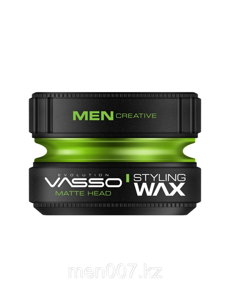 Vasso Воск матовый для укладки волос Styling Wax Pro-Matte Matte Head, 150мл.