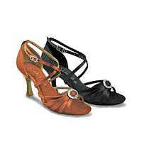Туфли бальные женские сатин BARBARA BR31038S Sansha Цвет Черный Размер 11 Материал Сатин