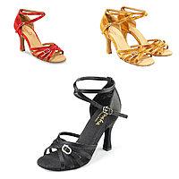 Туфли бальные женские сатин ADRIANA BR33050S Sansha Цвет Черный Размер 8 Материал Сатин