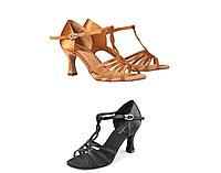Туфли бальные женские сатин Rosalia BR30035S/BR31035S Sansha Цвет Черный Размер 9 Материал Сатин