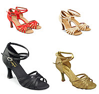 Туфли бальные женские сатин Regina BR31034S Sansha Цвет Черный Размер 8 Материал Сатин