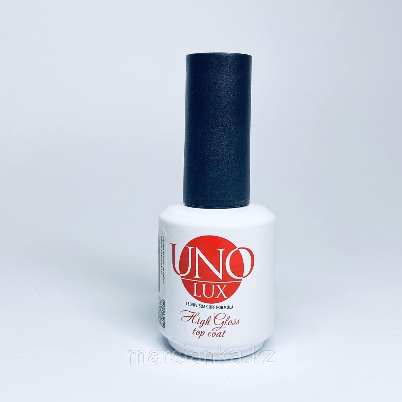 Top coat UNO, Lux high gloss, 15ml (топ)