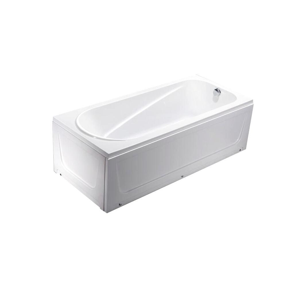 Ванна акриловая 140х70 прямая в комплекте 2-мя экранами и каркасом - фото 1