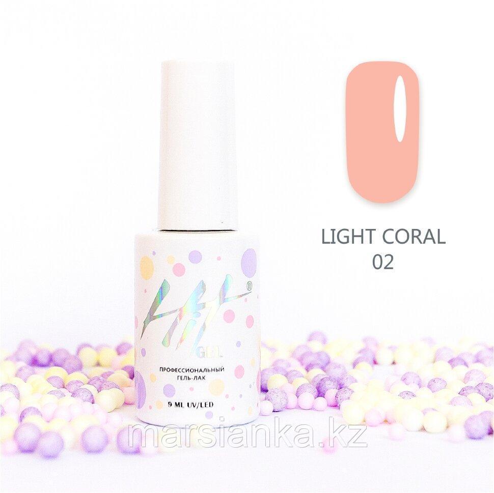 Гель-лак HIT gel Light Coral №02, 9мл