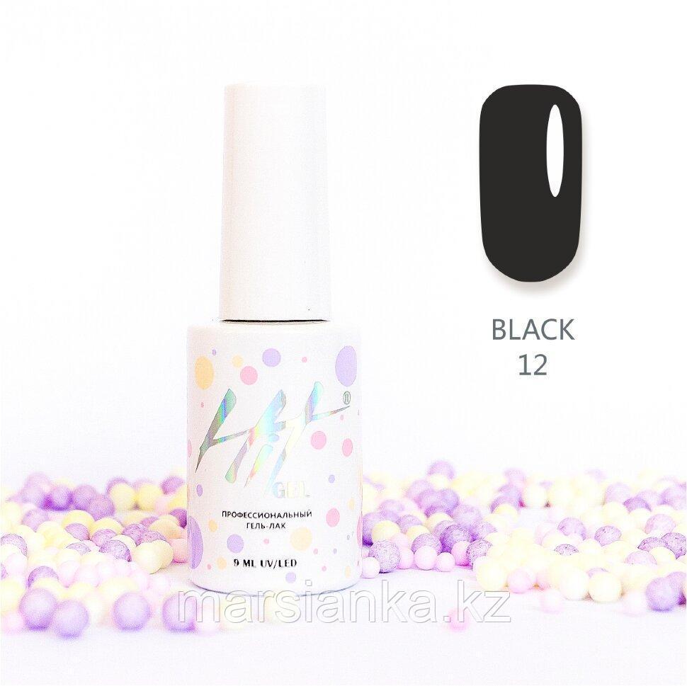 Гель-лак HIT gel Black №12, 9мл