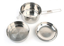 Набор походной посуды (нержавеющая сталь).