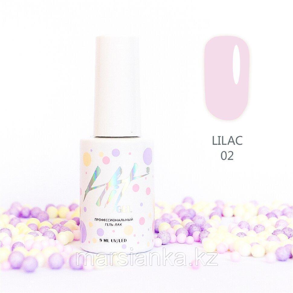 Гель-лак HIT gel Lilac №02, 9мл