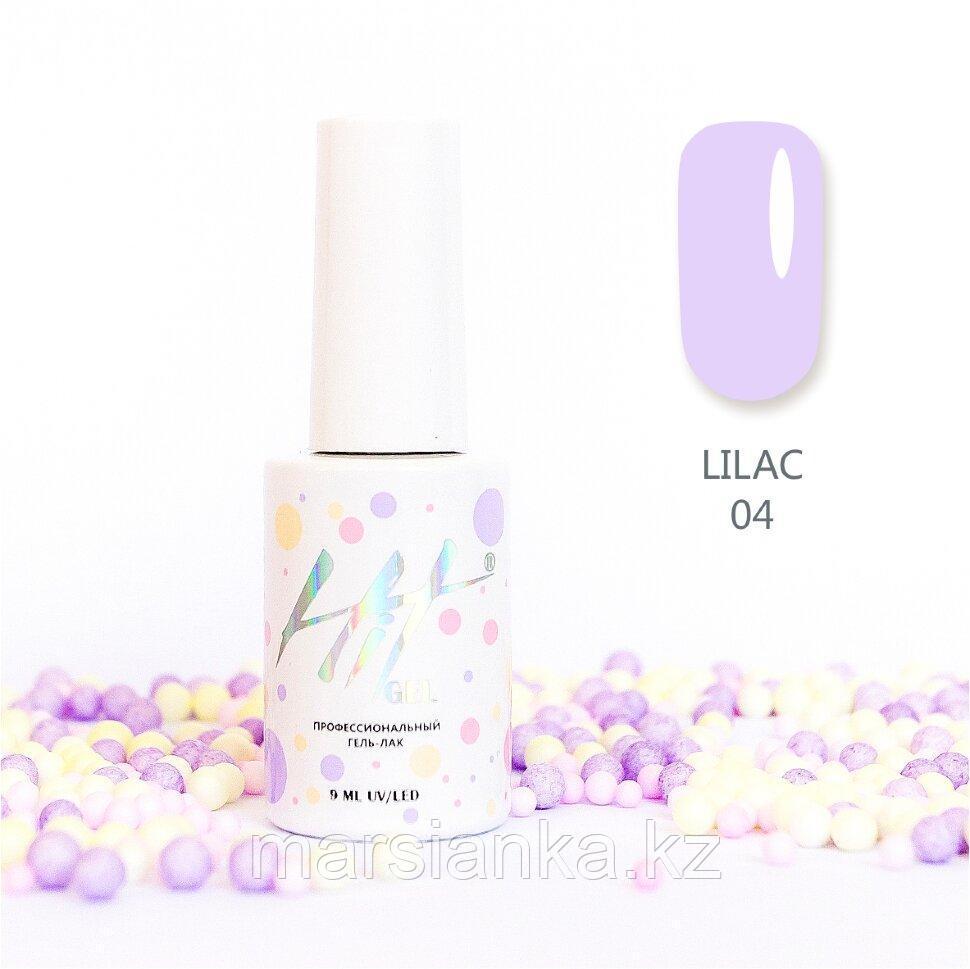 Гель-лак HIT gel Lilac №04, 9мл