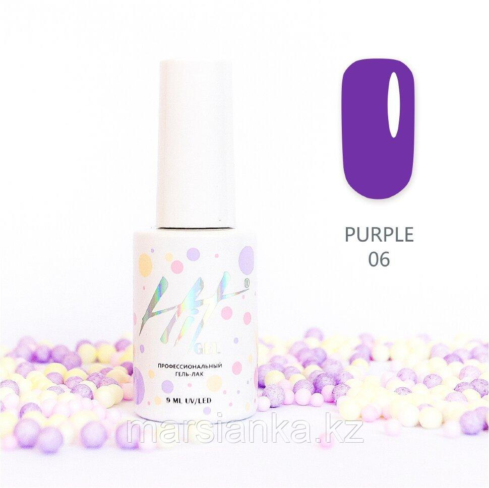 Гель-лак HIT gel Purple №06, 9мл