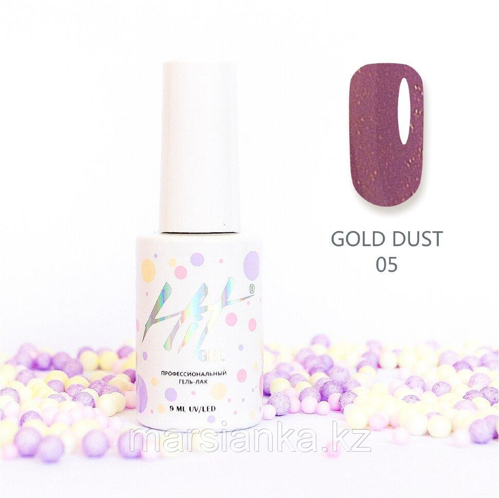 Гель-лак HIT gel Gold dust №05, 9мл