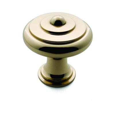 Ручка-кнопка, Brusso CK-105, D31.4*33мм, латунь, с винтом