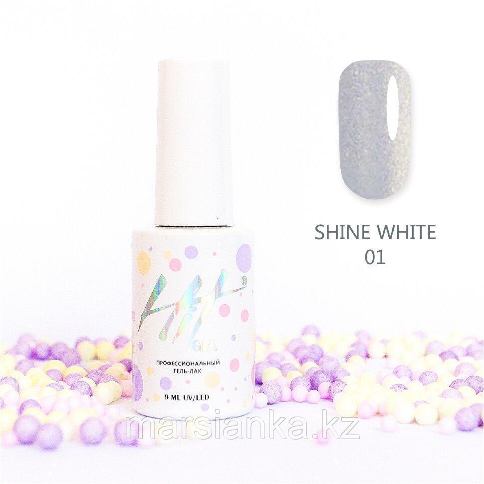 Гель-лак HIT gel Shine White №01, 9мл