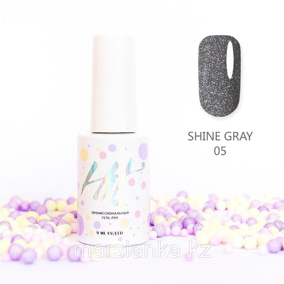 Гель-лак HIT gel Shine Gray №05, 9мл