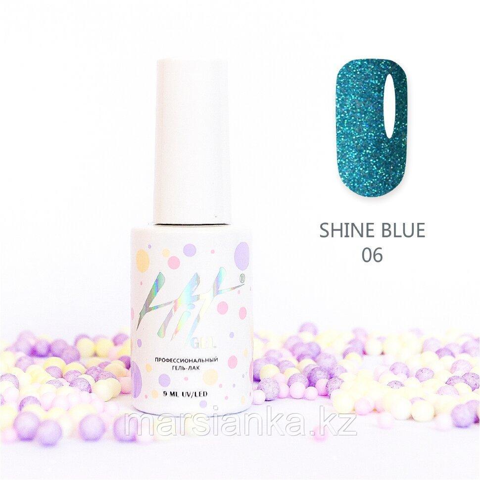 Гель-лак HIT gel Shine Blue №06, 9мл
