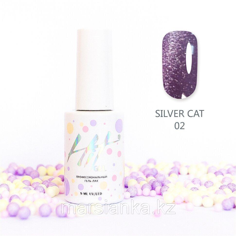 Гель-лак HIT gel Silver Cat №02, 9мл