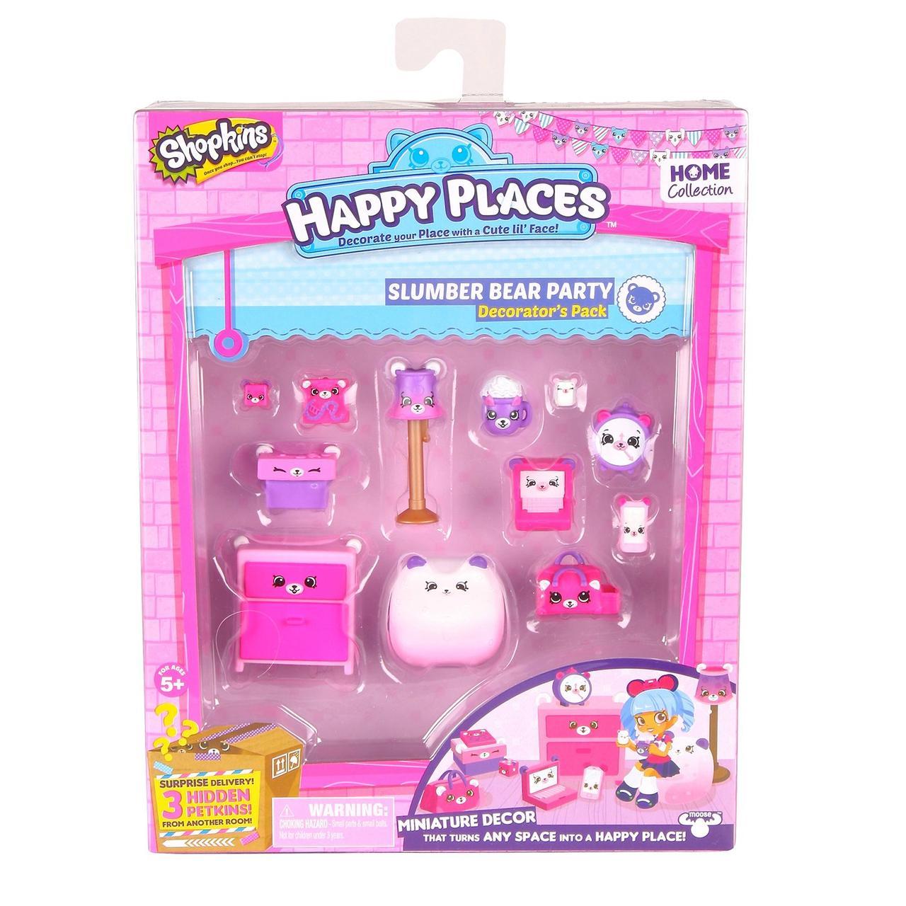 "Shopkins, Шопкинс ""Happy Places"" - Пижамная вечеринка с мишками (Декоративный набор)"