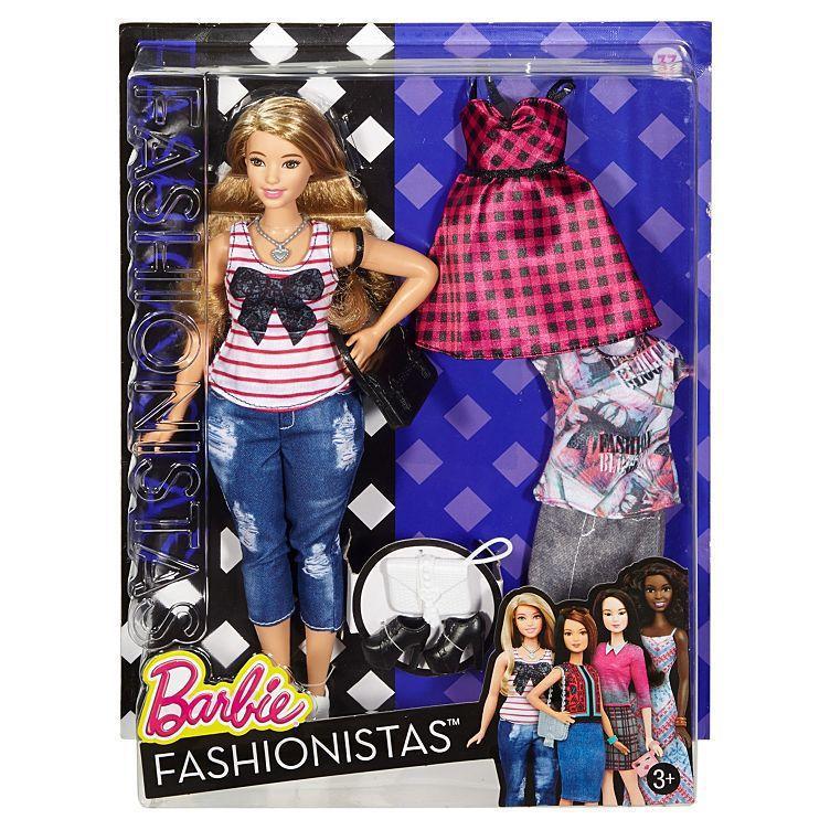 """Barbie """"Игра с модой"""" Кукла Барби - Блондинка с набором одежды, #37 (Пышная)"""