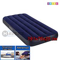 Односпальный надувной матрас Intex 64756, Dura-Beam, размер 191х76х25 см, фото 1