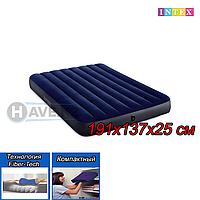 Полуторный надувной матрас Intex 64758, размер 191x137x25 см, фото 1