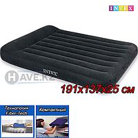 Полуторный надувной матрас Intex 64142, Dura-beam pillow rest classic airbed,  размер 191x137x25 см, фото 1