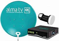 Спутниковое ТВ Alma TV Комплект спутникового оборудования с приставкой 60 см