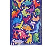 Пазл в рамке «Динозавры»