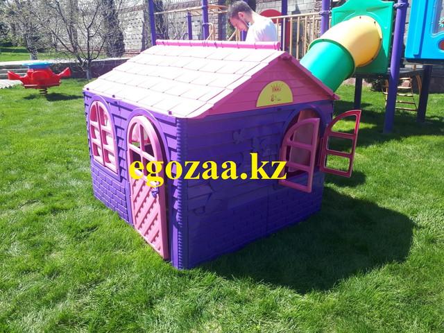 Детский игровой пластиковый домик Doloni со шторками