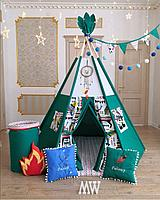 Детская палатка вигвам с ковриком и подушками
