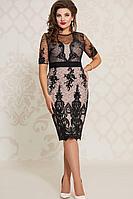 Женское осеннее кружевное нарядное большого размера платье Vittoria Queen 10413/2 50р.