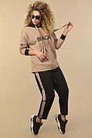 Женский осенний трикотажный спортивный большого размера спортивный костюм Сч@стье 9006 56р.