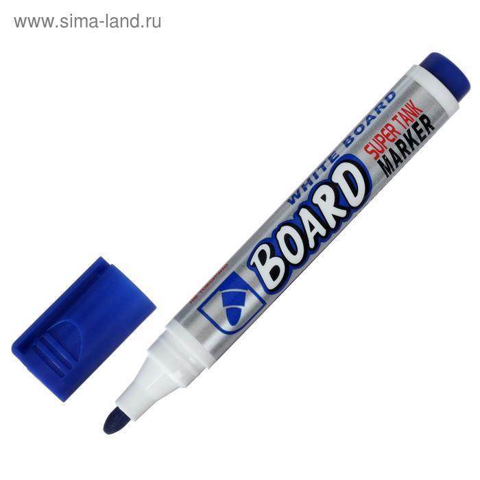 Маркер для доски 3.0 мм Crown Multi Board CBM-1000 синий - фото 2