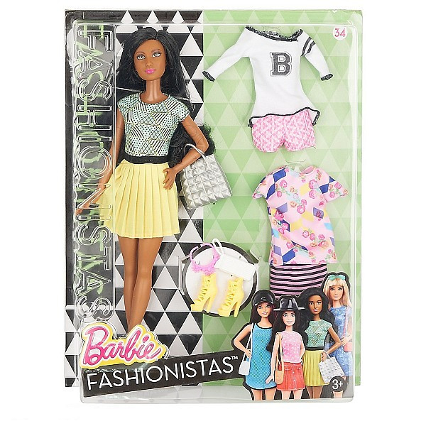 """Barbie """"Игра с модой"""" Кукла Барби - Брюнетка с набором одежды, #34"""