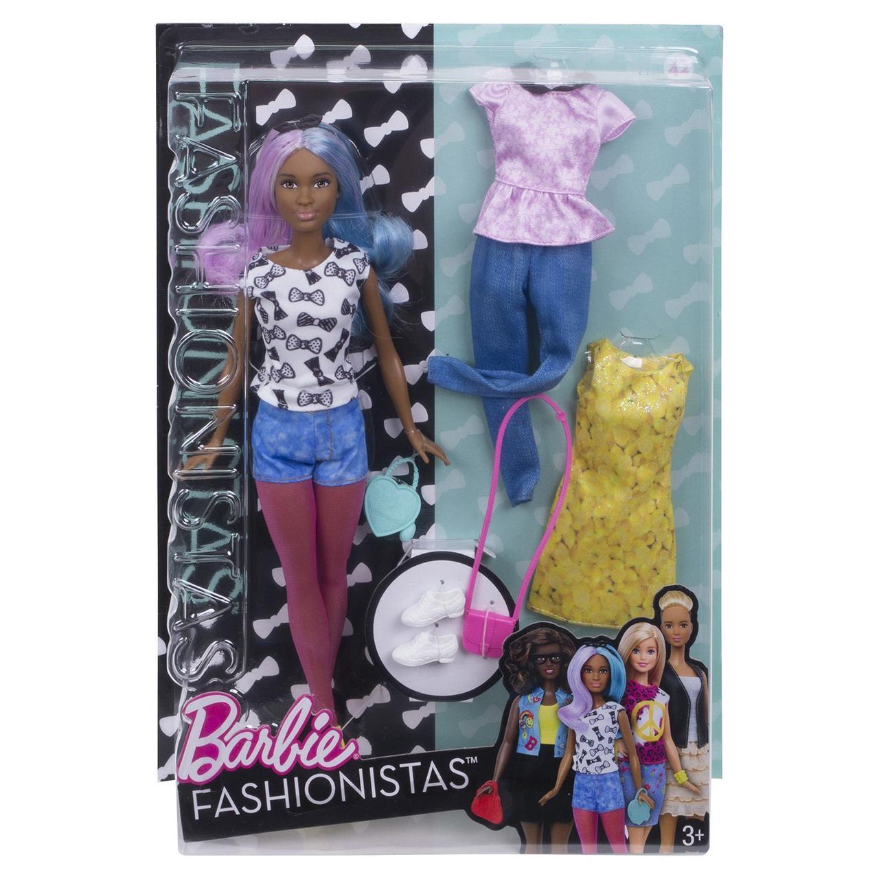 """Barbie """"Игра с модой"""" Кукла Барби - Афроамериканка с набором одежды, #42"""