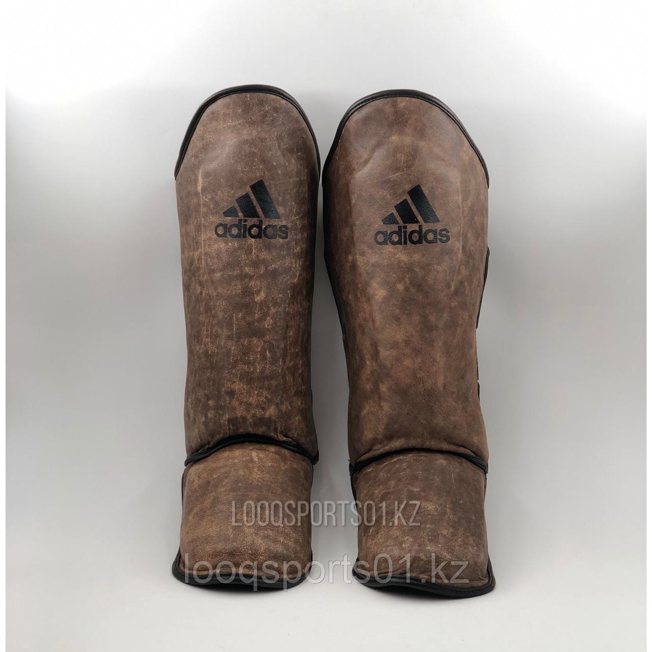 Защита для единоборств, голени и стопы (щитки-футы, киксы) Adidas кожа