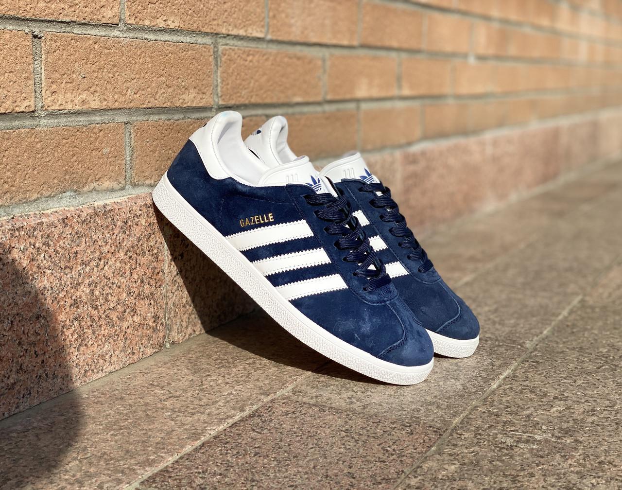 Кроссовки Adidas Gazelle(Dark Blue) - фото 1