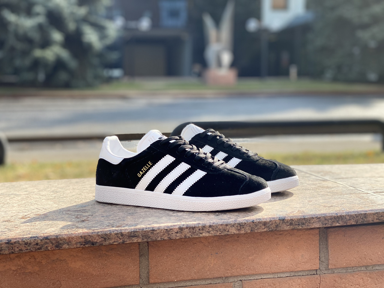 Кеды Adidas Gazelle (Black) - фото 1
