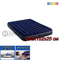 Двухспальный надувной матрас Intex 64759, размер 203x152x25 см, фото 1