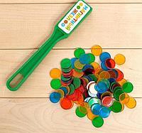 Магнитная игра «Магнитный жезл», 100 магнитных фишек, цвета МИКС