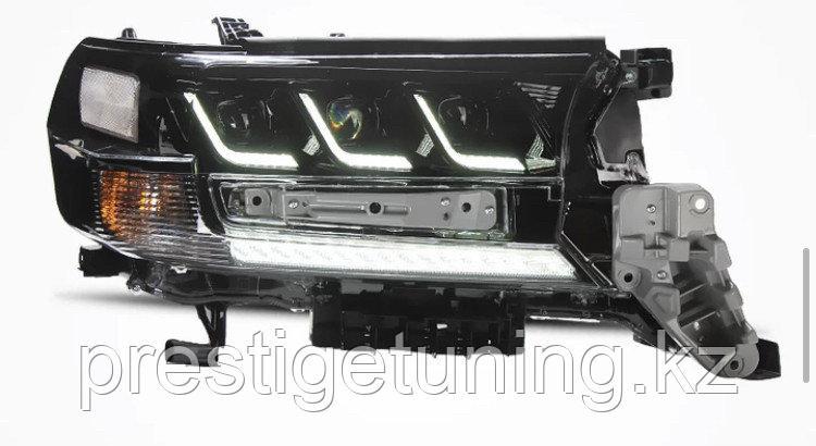 Альтернативная оптика (тюнинг) на Land Cruiser 200 2016-21 дизайн Lexus