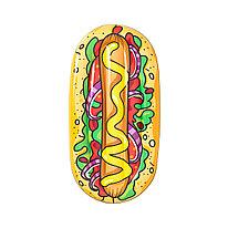 Пляжный матрас для плавания Hot Dog Pool Lounge 190 х 109 см  BESTWAY  43248